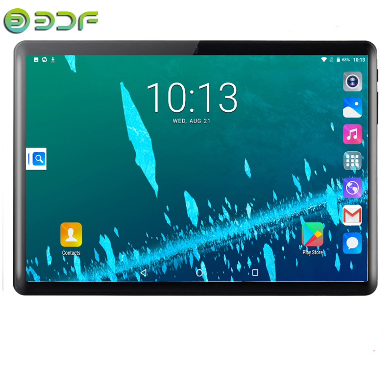 10.1 Inch  Android 7.0 Tablets 3G/4GPhone Call 2.5D Tempered Glass Octa Core 4GB/64GB Dual SIM Wi-Fi Bluetooth 4.0 GPS Tablet PC