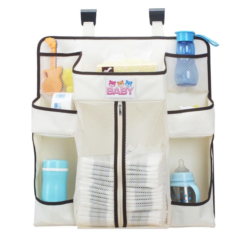 Organizer Crib Hanging Storage Bag Caddy Organizer For Baby Essentials Diaper Stackers Caddies Baby Storage