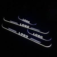 LED Door Sill for Volkswagen TOURAN 1T1 1T2 1T3 5T1 2003 2015 Door Scuff Plate Pathway Welcome Light Car Accessories