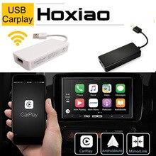 Hoxiao Apple USB bağlantı CarPlay Dongle için Android araç navigasyon radyo çalar IOS Apple telefonu otomatik USB akıllı bağlantı siyah beyaz