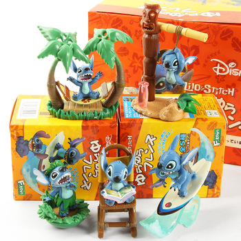 Disney movie figures Lilo & Stitch Stitch Scrump Happiness Moment PVC Statue action figure Collectible anime Model Toy Doll Gift 6pcs set monster figures toy super doll pvc anime action figure model toys doll for kids christmas gift