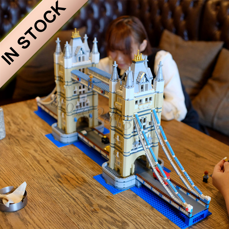 In Stock 4287Pcs High-level Model Street View Series Tower Bridge 10214 17004 30001 88004 Kids Toys Gifts Building Blocks Bricks