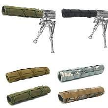 Silenciador de camuflaje táctico, funda protectora, equipo de silenciador táctico, 1 Uds.