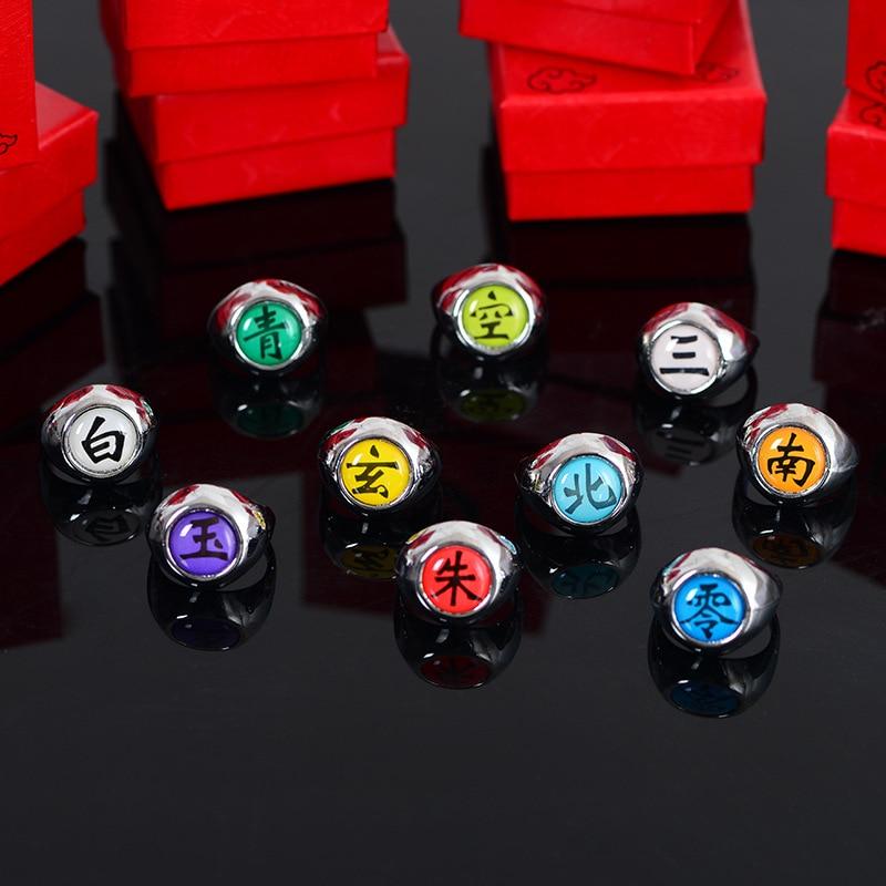 Аниме кольцо Наруто Организация Акацуки Uchiha Sasuke Itachi Sharingan Косплей кольца для мужчин и женщин ювелирные изделия
