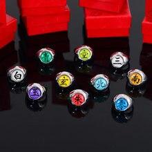 Anime naruto anel akatsuki organização uchiha sasuke itachi sharingan cosplay anéis para mulher jóias masculinas