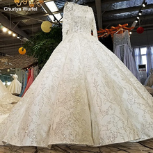 LS21047 new real bridal gown 100% original design OEM accepted long sleeves mariage off shoulder like white wedding dress