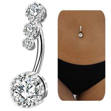 Crystal Belly Piercing Button Rings Bar Barbell Dr