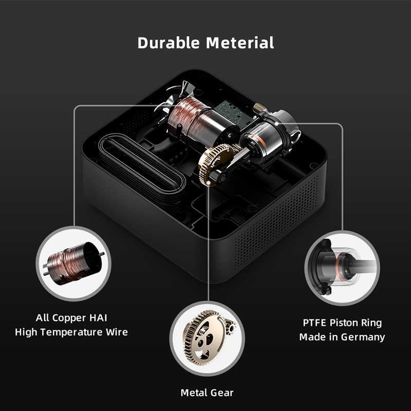 Oryginalna sprężarka powietrza 70mai DC 12V cyfrowa pompka do opon pompa powietrza do samochodów motocykl pompka do opon opona samochodowa Pumb