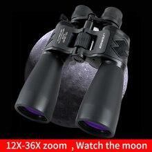 Borwolf 12 36 razy duże powiększenie HD profesjonalny Zoom lornetka 12 36X60 teleskop Light Night Vision