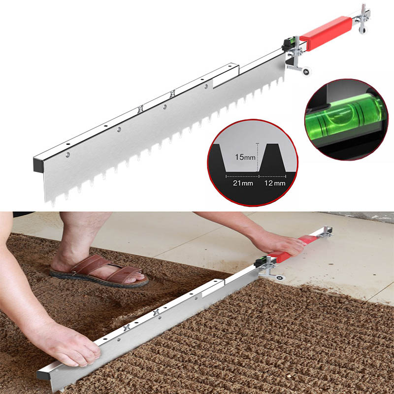1200mm Tile Flat Ash Device Tile Leveler Leveling System Flat Sand Tiling Paving Tile Plasterer Flooring Tile Tool