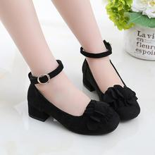 Children's leather shoes girls wedding dress shoes