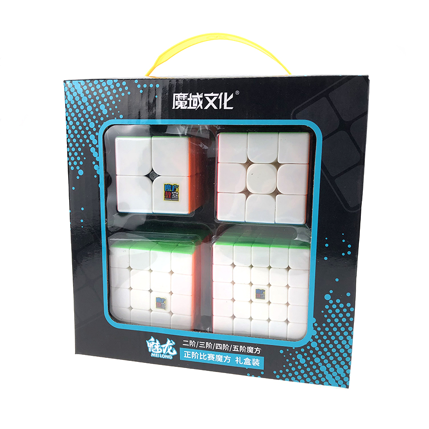 Moyu MofangJiaoshi 2x2 3x3 4x4 5x5 Competition Magic Cube Set 4pcs Cubing Classroom Speed Cubes Puzzles Toys For Children