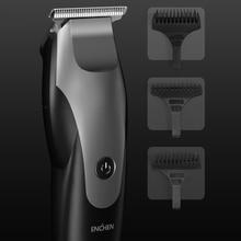 ENCHEN elektrikli saç düzeltici saç kesme aleti erkekler için profesyonel akülü makası USB şarj saç kesimi saç kesme makinesi