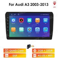 2 DIN Android 10 Gps Đài Phát Thanh Cho Xe Audi A3 8P 2003 2012 S3 2006 2012 RS3 2011 2din Xe Âm Thanh Stereo Autoradio Dẫn Đường 4G Lte