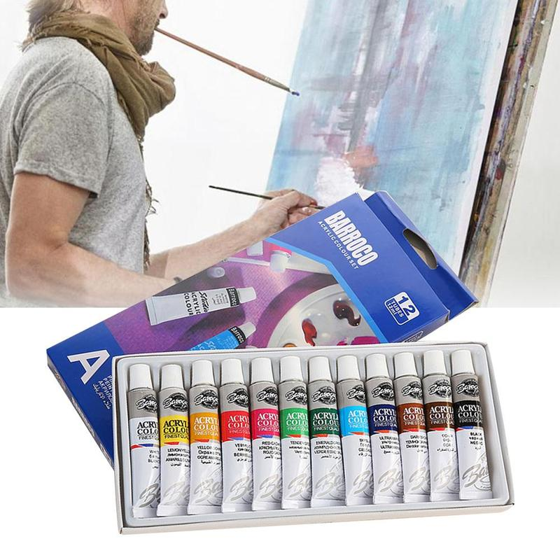 12 Pcs/set 6ml Watercolor Paints Children's Painting Watercolor Paint Set Beginner Art Paint Diy Paint Set Acuarelas Profesional
