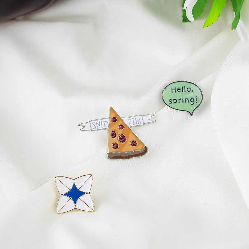 Moda popüler sevimli tavşan ayı mektup emaye Pin karikatür yaka Pin özel rozet hediye çocuklar için kız broş kadınlar takı için