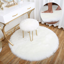 Artificial Sheepskin Rug Chair Cover Bedroom Mat Artificial Wool Warm Hairy Carpet Seat Textil Fur Area Rugs 30/50/60/90cm(China)