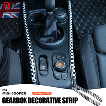 High Quality Auto Gear Shift Box Side Panel Trim Decorative Cover Sticker For mini cooper F60 F54 Countryman Car Accessories