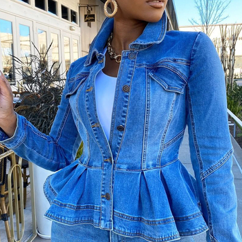 Jeans Jackets Coats Women 2020 Short Casual Denim Coat New Autumn Long Sleeve Jacket Hot Fashion Casual Women Coat Denim Jacket jaycosin women jackets coats autumn winter fashion slim long sleeve leather coat short jacket with pockets casual outwear 1011