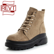 Winter Boot Platform Ladies Shoes Student Women Boat Female Autumn Flat Fashion REVT