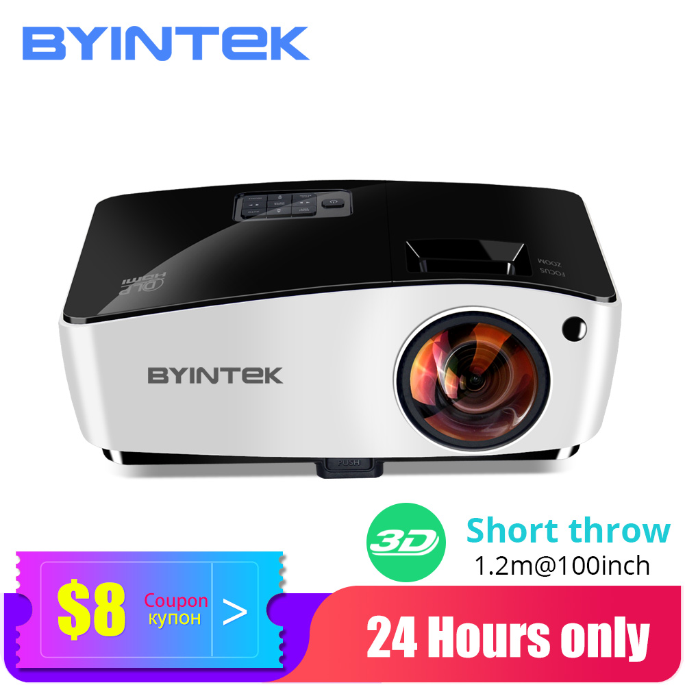 Проектор BYINTEK K5 с коротким фокусным расстоянием, 4000ANSI Full HD 1080P Video Proyector,DLP 3D верхний проектор для освещения в кинотеатре