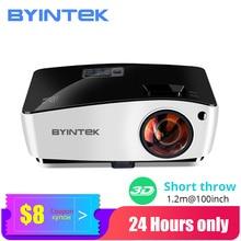 BYINTEK projektor z krótkim rzutem K5,4000ANSI, Full HD 1080P Proyector wideo, DLP 3D napowietrznych Beamer do kina Daylight Education