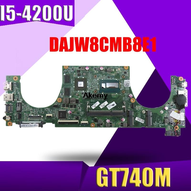 DAJW8CMB8E1 14-5470 Laptop motherboard for Dell Vostro 5470 original mainboard I5-4200U GT740M