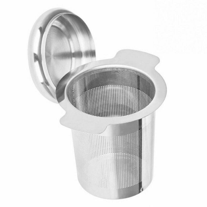 Tea Infusers Stainless Steel Mesh Tea Infuser Metal Cup Strainer Loose Leaf Filter With Lid