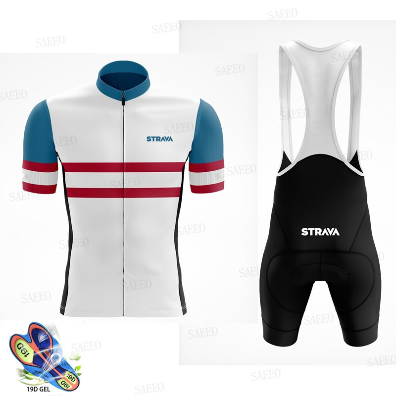 2020 <font><b>STRAVA</b></font> Pro Team summer cycling Jersey set Breathable Short Sleeve <font><b>shirt</b></font> <font><b>Bike</b></font> bib shorts 19D Gel pad Bicycle Clothing mavic image