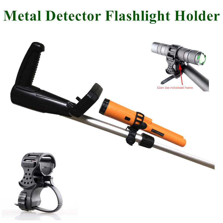 Metal Detector Flashlight Holder POINTER Holder / Flashlight *MOUNT Suitable For All Kinds Of Underground Detectors