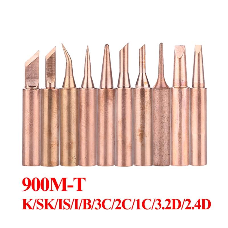 10Pcs/lot Pure Copper Soldering Iron Tips Welding Sting Solder Tip For 936 BGA Soldering Station