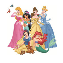 1 шт. горячая Распродажа мультяшное Принцесса Жасмин Золушка Принцесса наклейка с теплопередачей патч Термальность переводные наклейки