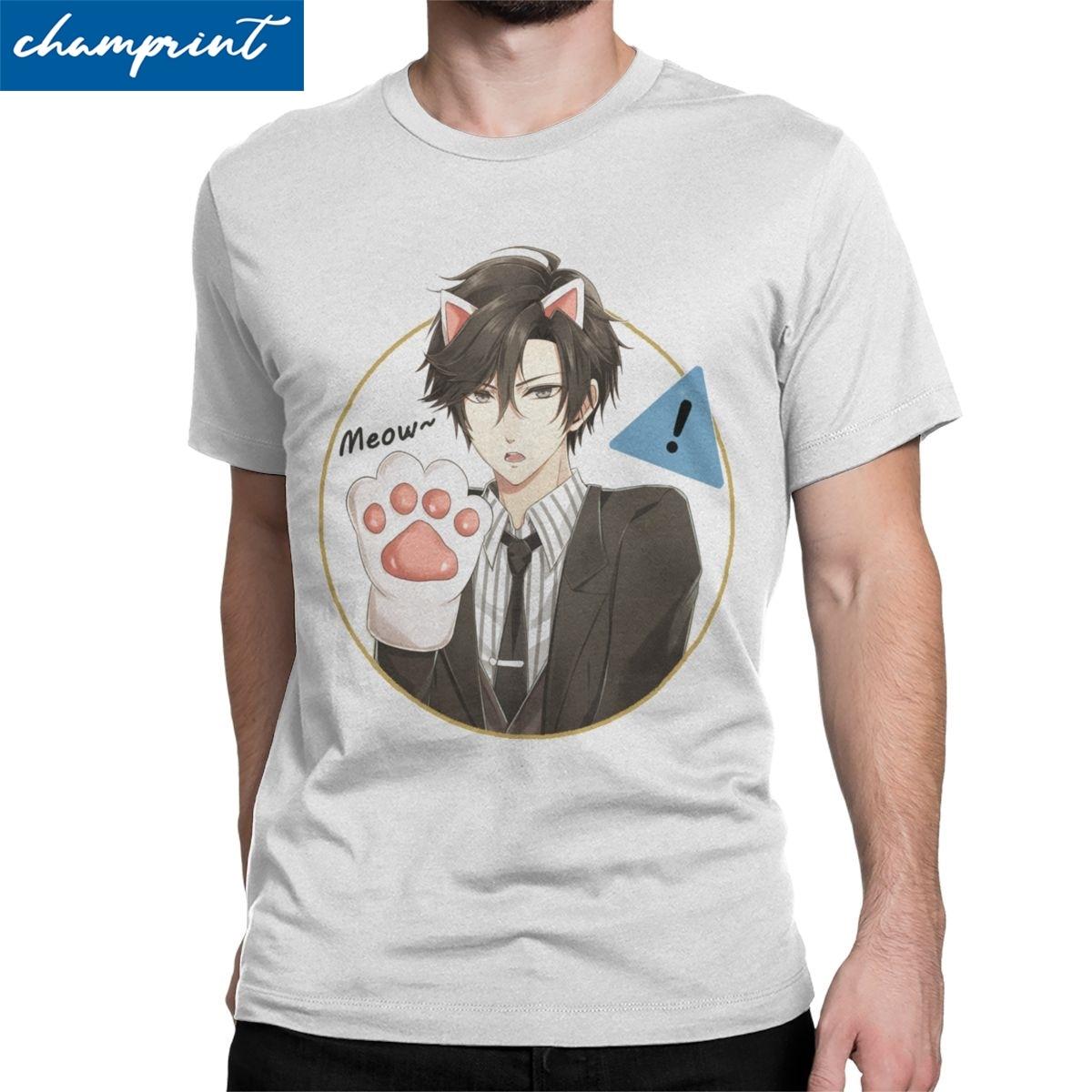 Jumin Men T Shirt Mystic Messenger MM BG Otome Game Crazy Tee Shirt Short Sleeve Round Collar T-Shirt Cotton Gift Idea Clothing