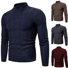 2020 gorąca sprzedaż męska sweter z golfem sweter zimowy Casual Solid Color dzianiny sweter z wełny sweter wąska z dzianiny sweter mężczyzn tanie tanio CN (pochodzenie) Standardowy wełny Na co dzień Komputery dzianiny Stałe Swetry Pełna REGULAR Grube Brak NONE