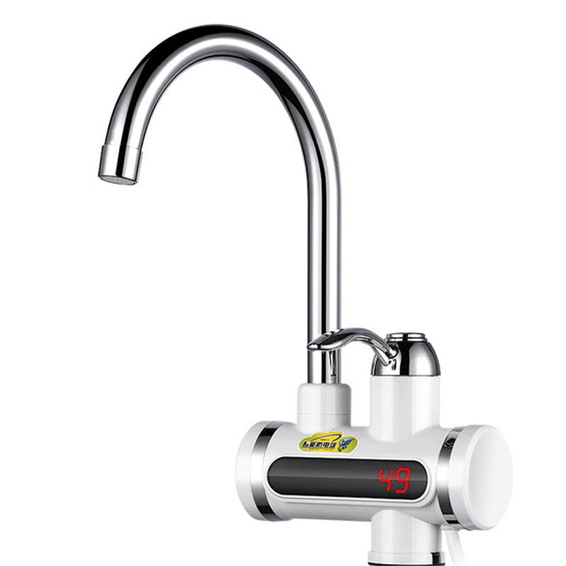 Electric Hot Faucet Water Heater 220V Electric Tankless Water Heating Kitchen Digital Display Instant Water Tap EU/UK/US/AU Plug
