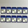 10pcs a lot 2GB SD Card MLC Flash FAT Format Standard Memory Card Free shipping
