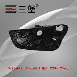 Made for AUDI Q5L (2018-2020) headlights housing plastic black-shell headlamp backseat lamp