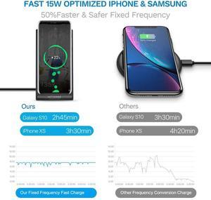 Image 3 - DCAE 15W szybka bezprzewodowa ładowarka podstawka ładująca qi stacja dokująca dla iPhone 11 XS XR X 8 Airpods Samsung S10 S9 S8 szybkie ładowanie