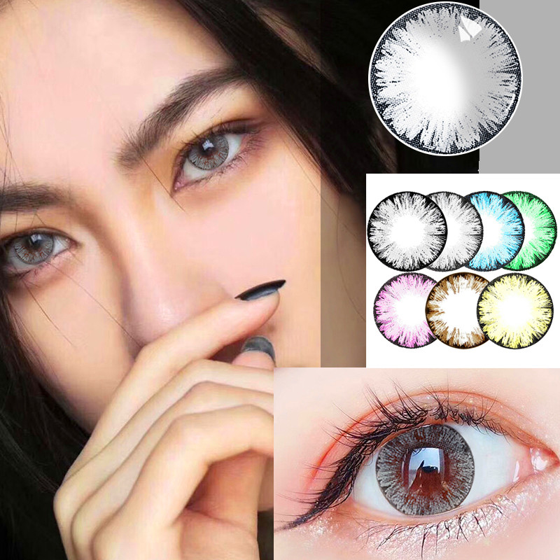 Beautiful Pupil Color Contact Lenses Monthly Throw Female Path 14mm Cute Multicolor Party Gift Cartoon Girl Decoration Cosplay