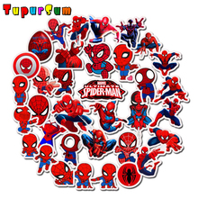 35pcs Spiderman Stickers Toys Cartoon Anime Superheros Marvel DC For Kids Laptop Car Skateboard Luggage Decal Waterproof Sticker