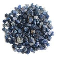 100g/200g Natural Blue Corundum Crystal Gravel Rough Rockstone Tumbledstone Reiki Aquariums Decoration Mini Stone natural reef aquariums