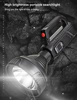 Linterna táctica LED de gran potencia, iluminación integrada, lámpara de Camping, foco portátil, luz fuerte, tiro largo, USB