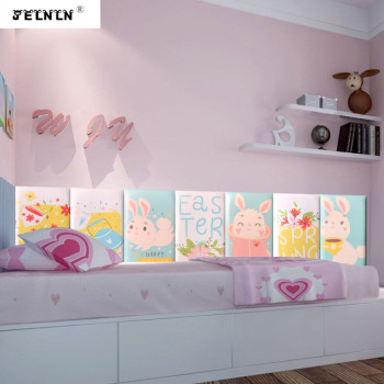 Cartoon rabbit kids room collision soft bag baby collision wall fence collision angle strip kindergarten cartoon 3D wall sticker фото
