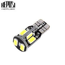 цена на Car W5W T10 LED Light 10-5630 SMD Side Marker Lamps White Warm White Clearance Lights Bulb Instrument Panel Lamp DC 12V