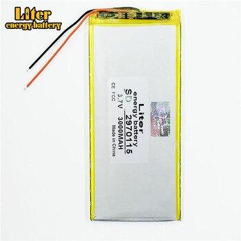 3.7 V 3000 mah tablet battery brand tablet general polymer lithium battery 2970115 7 inch tablet PC battery