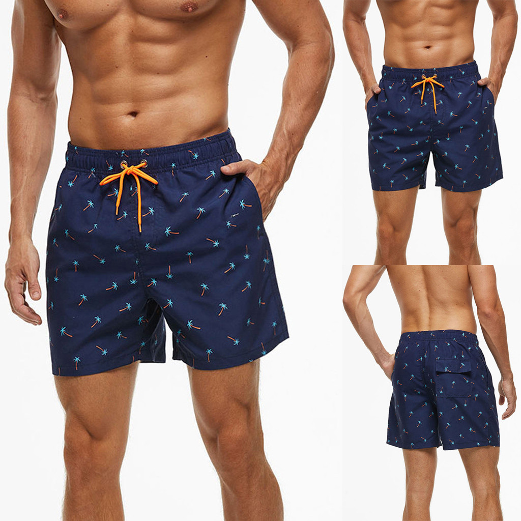 Beach-Pants Shorts Bathing Surf Quick-Dry New-Fashion Boxer Brie Waterproof Men's -201 title=