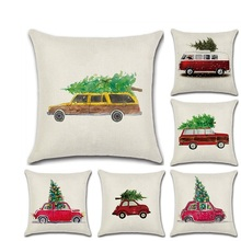 2019 New Christmas Tree Car Throw Pillow Cushion Covers  kussenhoes Pillowcase housse de coussin Decorative Sofa Fundas Cojines