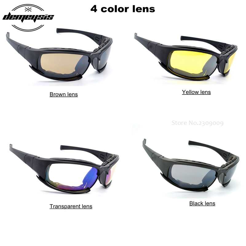 Kit Conjunto de 1 Hombre Polarizadas Marco De Camuflaje Táctico Gafas Gafas 4 Lentes