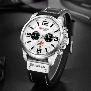 Image 4 - CURREN Mens Watches Sport Luxury Waterproof Military Top Brand Wristwatch Leather Quartz Watch Dropshipping Relogio Masculino