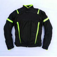 Motorcycle Riding Jacket for Suzuki Racing Summer Mesh Jacket with Protectors and Windproof Lining